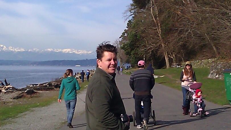 Chad Enjoying the Promenade at Lincoln Park