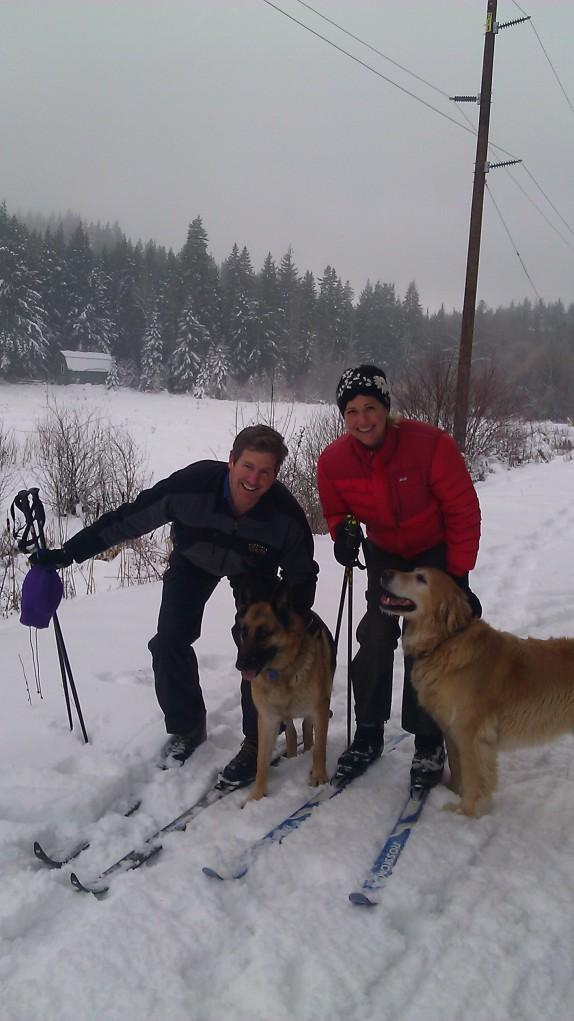 Jim and Kristin Jones with Cheyenne and Nickel