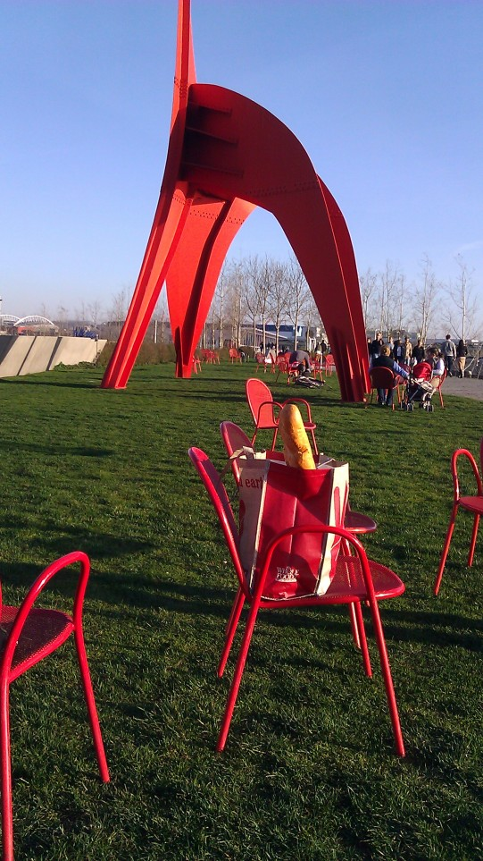 A Perfect Picnic Spot next to Eagle by Alexander Calder