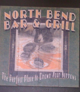 Stop at the North Bend Bar & Grill - great food and great beers!
