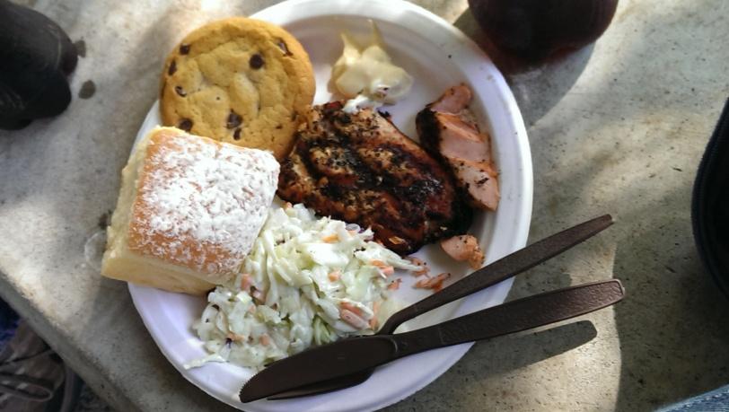 Delicious BBQ Salmon courtesy of the Kiwanis