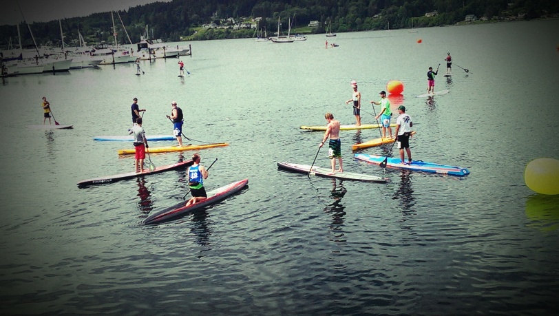 Preparing for the Viking Stand Up Paddle Race
