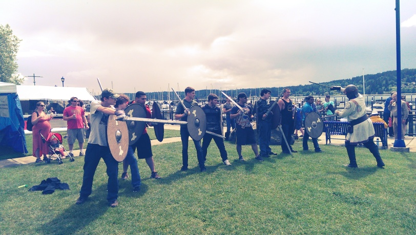 Instructing in the art of Viking Battle