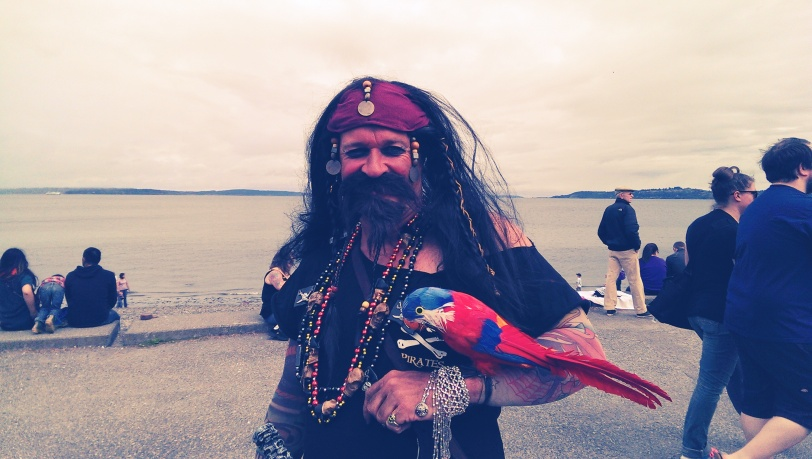 Shiver Me Timbers, a Pirate on Alki Beach!