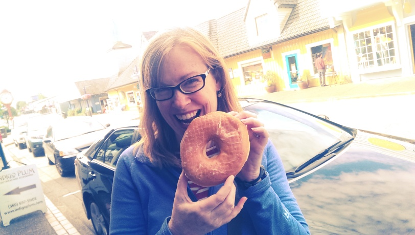 This Viking Donut is practically the size of my head!