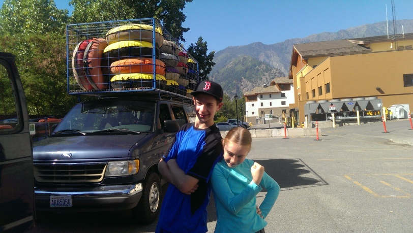 Jack and Erin are ready to take on the river.