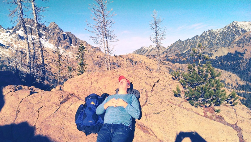 Resting after a 2,500 foot ascent!