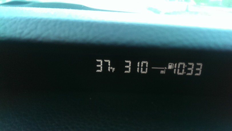 37 degrees outside!