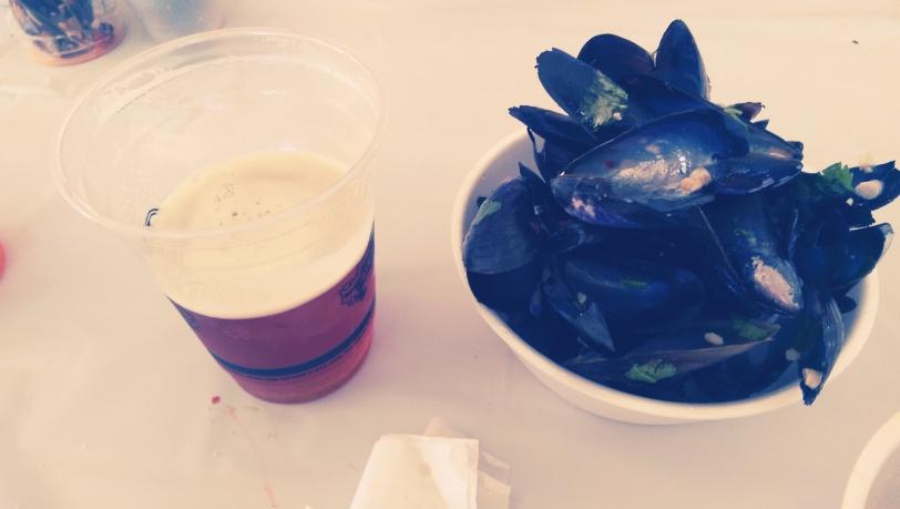 Beer garden mussel shells