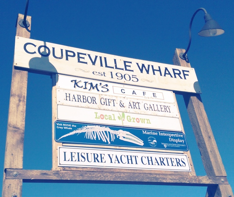 Coupeville Wharf sign