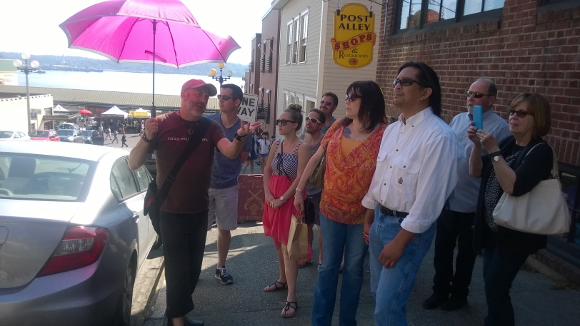 (Mark with his umbrella - photo courtesy of Crystal Thomas)