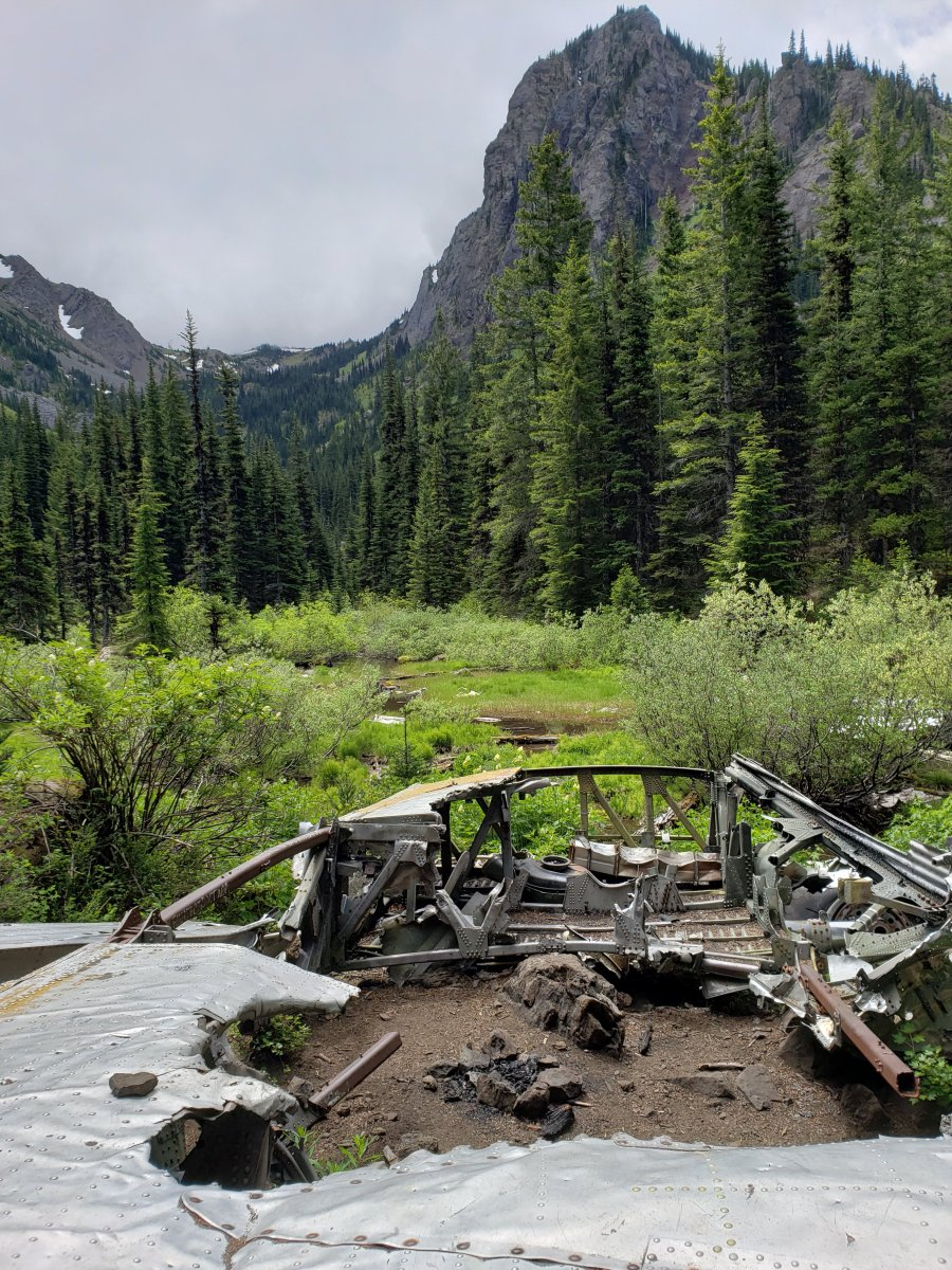 Tubal Cain Trail - and old airplane wreckage | Mr and Mrs ...